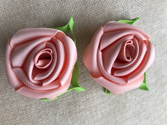 Peach Rose Clip (single or set)