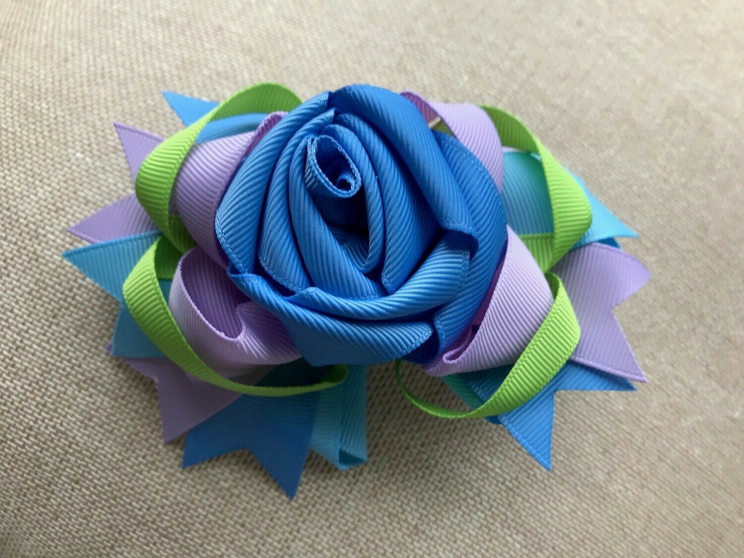 Blue rose with rear bow