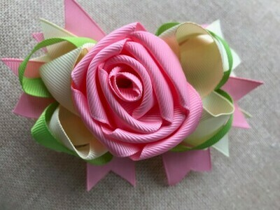 Pink roses with pink and cream back ground