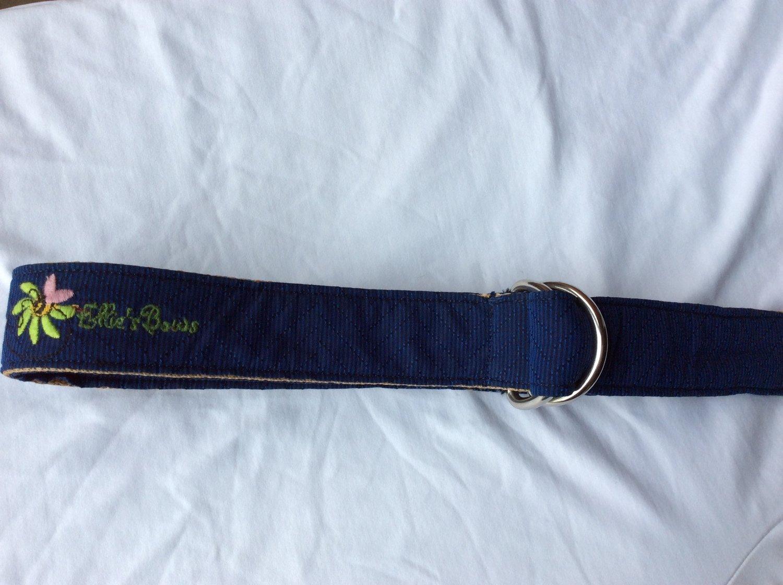 Ribbon Belt Dark Blue 2