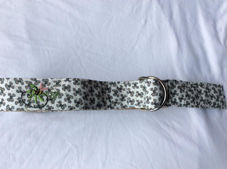 Ribbon Belt White & Grey