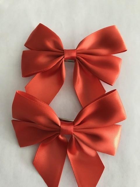 Small: Rust Silk Bow ( Single)