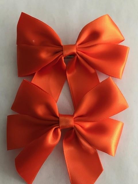 Small: Orange Silk Bow (Single)