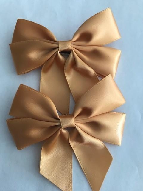 Small: Golden Brown Silk Bow (Single)