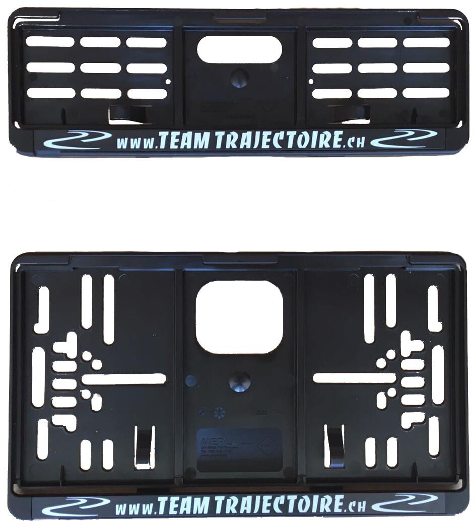 Cadres de plaque (1x av. + 1x arr. carré)