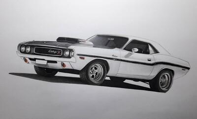 Sketch Auto Americane