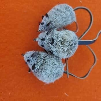 Natural DEER HAIR MOUSE FLY FISHING FLIES Size #2* (3 ea.)