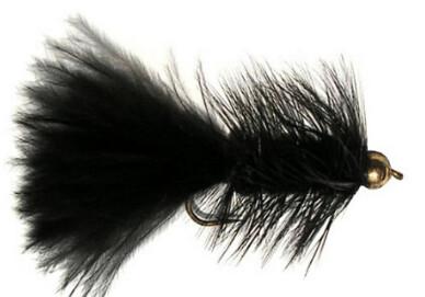 Black Wooly Bugger Various Sizes 1 Dozen Flies