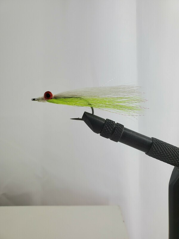 Chartreuse and White Clousers Size 3/0