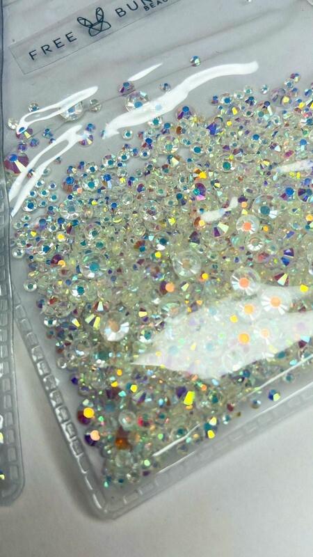 Shiny Crystals - Tono Blanco