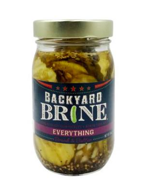 Backyard Brine Everything Bread & Butter Pickles