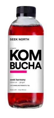 Seek North Kombucha Hibiscus Ginger