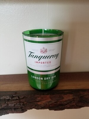 Tanqueray glass candle