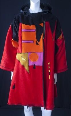 Painterly Wool Women's Coat