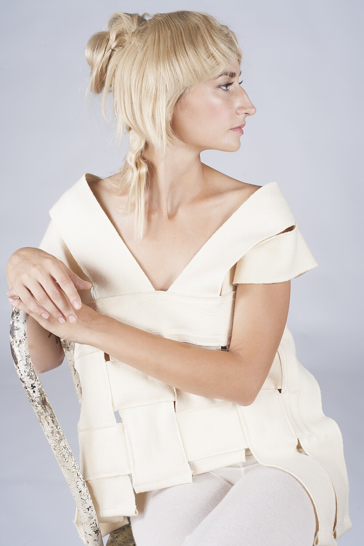 Ivory Cashmere Wool Vest