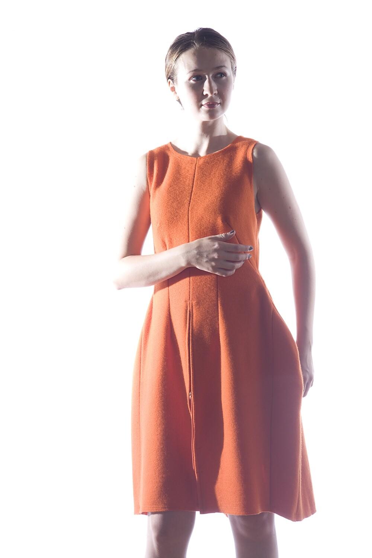 Orange Wool Dress