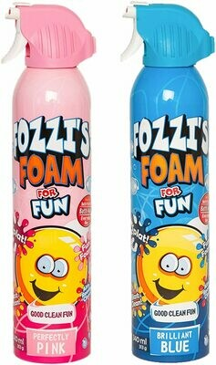 FOZZI's Bath Foam Aerosol for Kids, Brilliant Blue and Perfectly Pink, Good Fozzi Fun, 11.49 ounces (340ml) Each (Pack of 2) (Free Shipping)