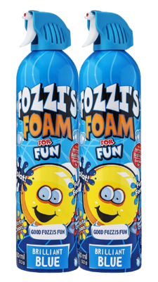 FOZZI's Foam 2 x Large Brilliant Blue, Good Fozzi Fun, 2 x 18.06 oz (Free Shipping)