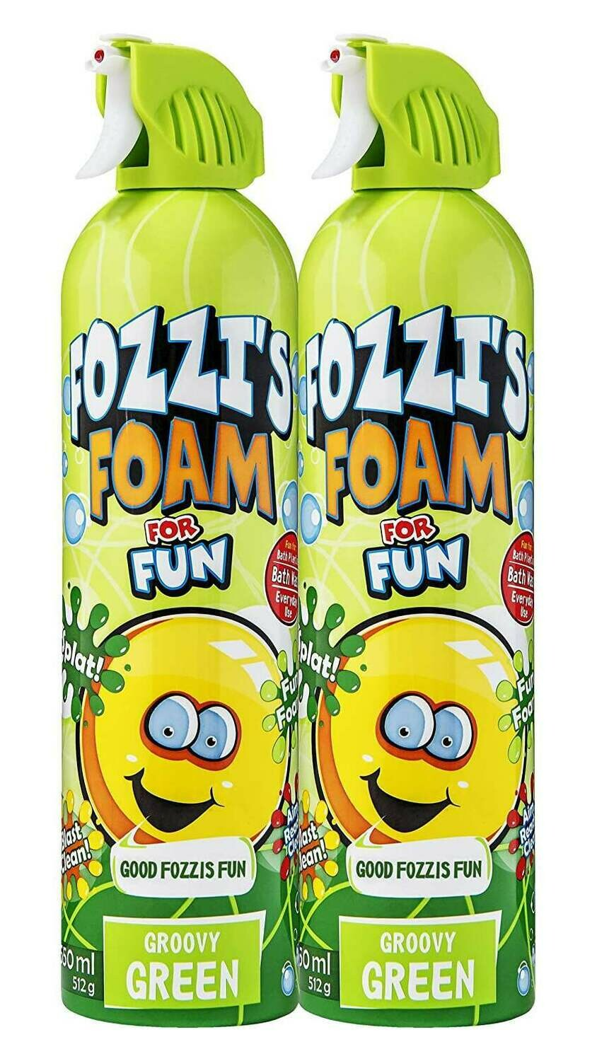 FOZZI's Foam 2 x Large Groovy Green, Good Fozzi Fun, 2 x 18.06 oz (Pack of 2) and Free Shipping