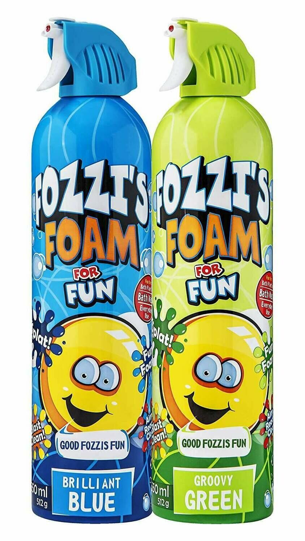 FOZZI's Foam 2 x Large Brilliant Blue & Groovy Green Soap, Good Fozzi Fun, 2 x 18.06 oz (Free Shipping)
