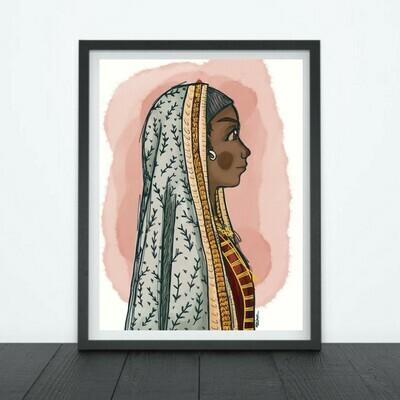 Print Indian Tribal Girl