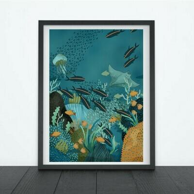 Print Coral Reef