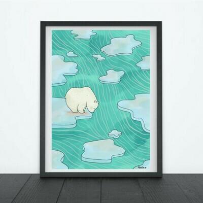 Print Polar Bear (Sticker / Print Options)