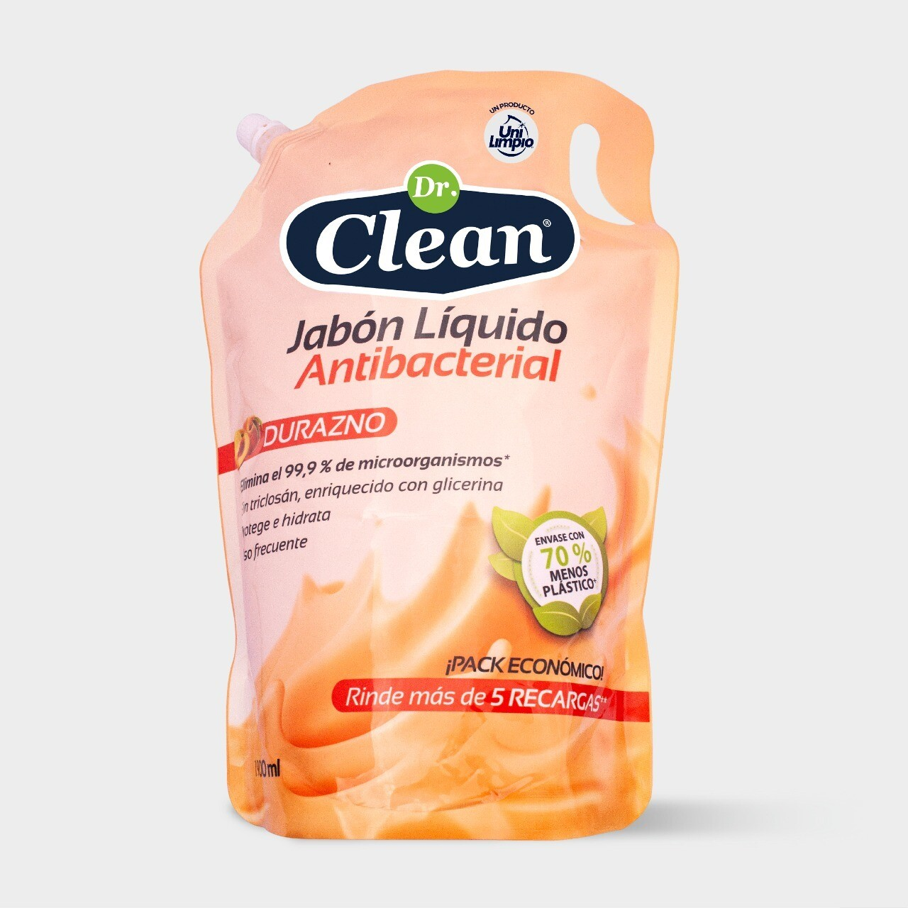 Jabón Líquido Antibacterial Dr. Clean 1900 ml + 100 ml gratis
