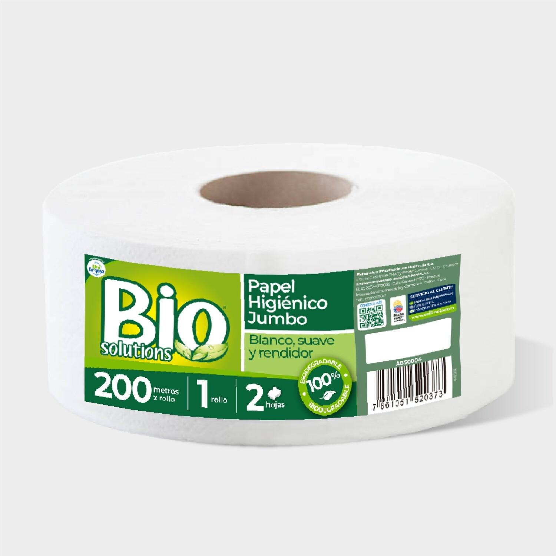 Papel Higiénico Jumbo Biosolutions Blanco
