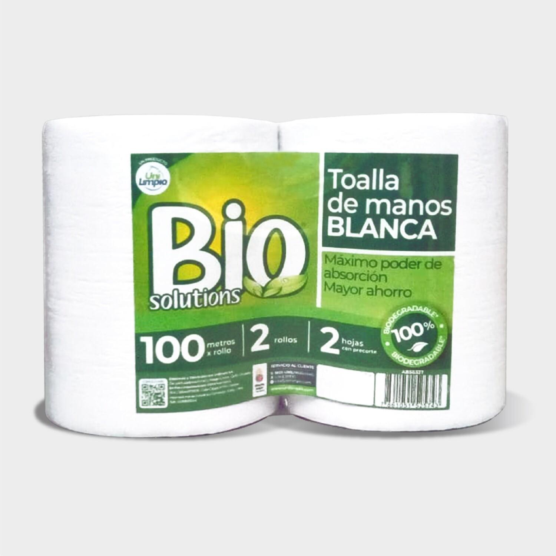Toalla de Manos Biosolutions Blanca