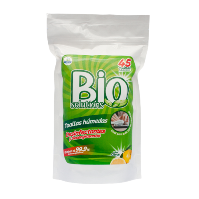 Toallas Húmedas Desinfectantes y Desengrasantes Biosolutions