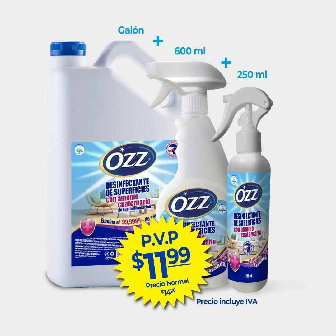 Promo Kit Desinfectante de Superficies con Amonio Cuaternario Ozz