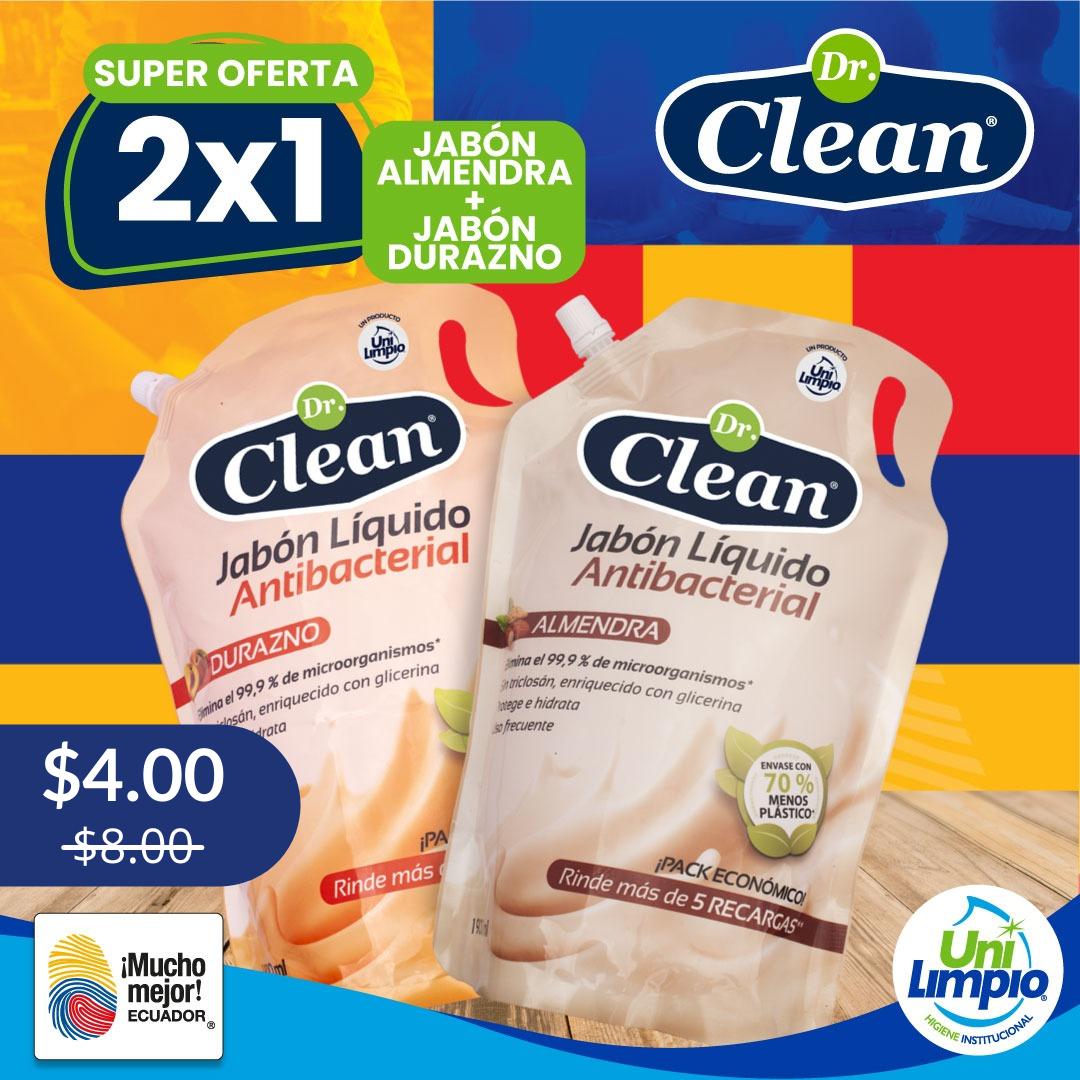 Promo 2x1 Jabón Líquido Antibacterial Dr. Clean 1900 ml