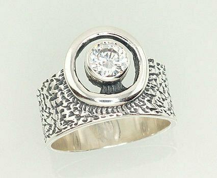 Sidabrinis žiedas, ADUN 2101208(POx-Bk)_CZ