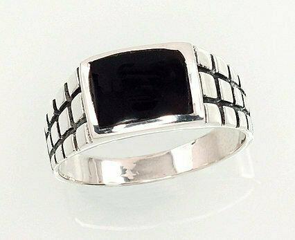 Sidabrinis žiedas, ADUN 2101359(POx-Bk)_ON