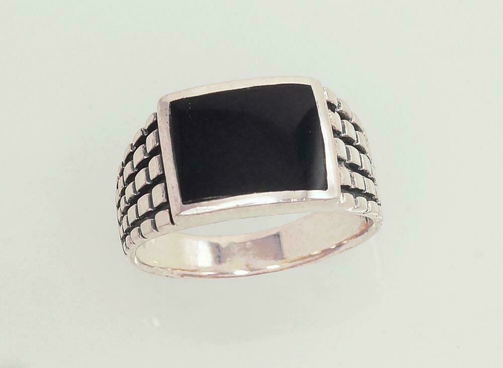 Sidabrinis žiedas, ADUN 2101361(POx-Bk)_ON
