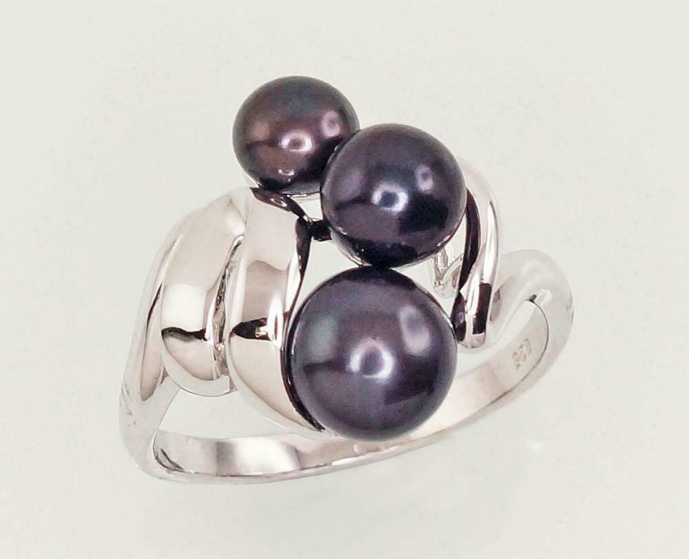 Sidabrinis žiedas, ADUN 2101454(PRh-Gr)_PE-BK