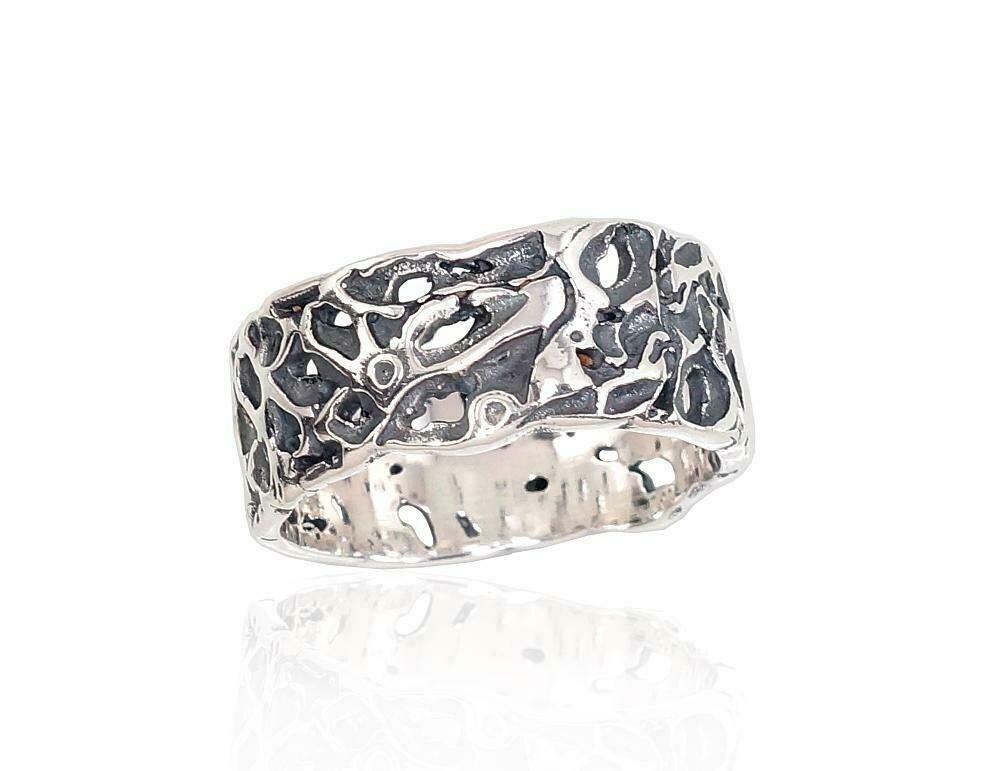 Sidabrinis žiedas, ADUN 2101667(POx-Bk)