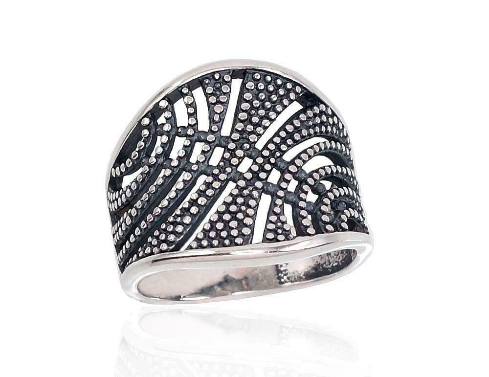 Sidabrinis žiedas, ADUN 2101671(POx-Bk)