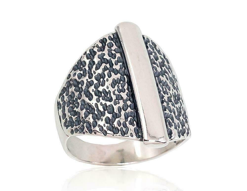 Sidabrinis žiedas, ADUN 2101674(POx-Bk)