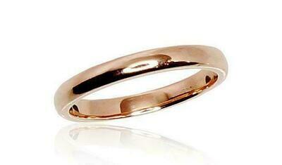 Klasikinis auksinis Vestuvinis žiedas: 2,5 mm pločio.  Įvairūs dydžiai Modelis ADUM1100001(Au-R)