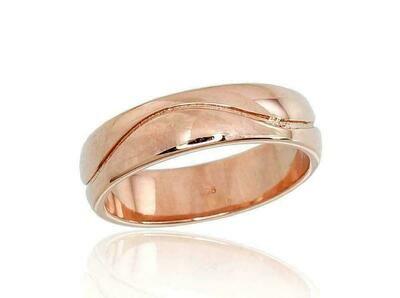 Auksinis Vestuvinis žiedas su raštu 5 mm pločio  Įvairūs dydžiai. Modelis ADUM1100101(Au-R)