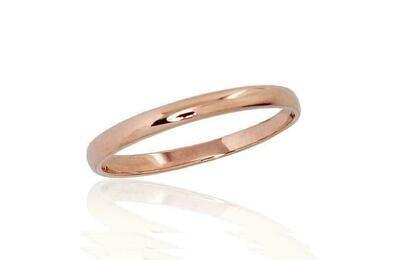 Auksinis Klasikinis Vestuvinis žiedas: 2 mm pločio. Įvairūs dydžiai. Modelis ADUM1100541(Au-R)