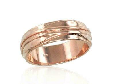 Auksinis Vestuvinis žiedas: su raštu 6 mm pločio Įvairūs dydžiai, Modelis ADUM1100553(Au-R)