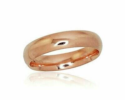 Auksinis Klasikinis Vestuvinis žiedas: 4,5 mm pločio. Įvairūs dydžiai. Modelis ADUM1100726(Au-R)