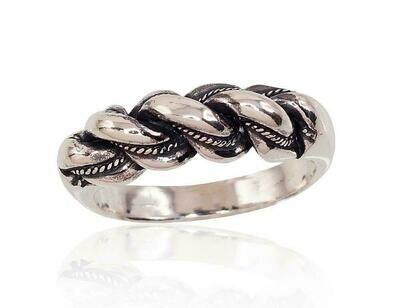 Sidabrinis žiedas, ADUN 2100005(POx-Bk)