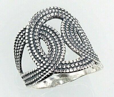 Sidabrinis žiedas, ADUN 2100670(POx-Bk)