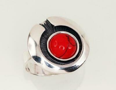 Sidabrinis žiedas, ADUN 2100932(POx-Bk)_COX