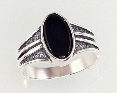 Sidabrinis žiedas, ADUN 2100937(POx-Bk)_ON