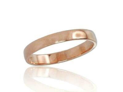 Auksinis Klasikinis Vestuvinis žiedas: 3 mm. pločio. Įvairūs dydžiai. Modelis ADUM1100542(Au-R)